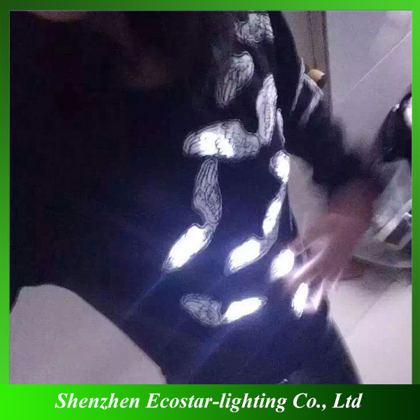 Super brightness LED Glowing T-shirts with Motion Sensor Activated Function