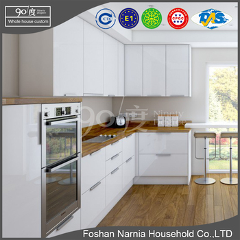 modern kitchen furniture high quality wood kitchen cabinet with handles