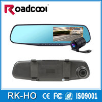 HD1080p H170 dual lens camera rearview mirror car dvr recorder 4.3inch LCD Rearview Mirror