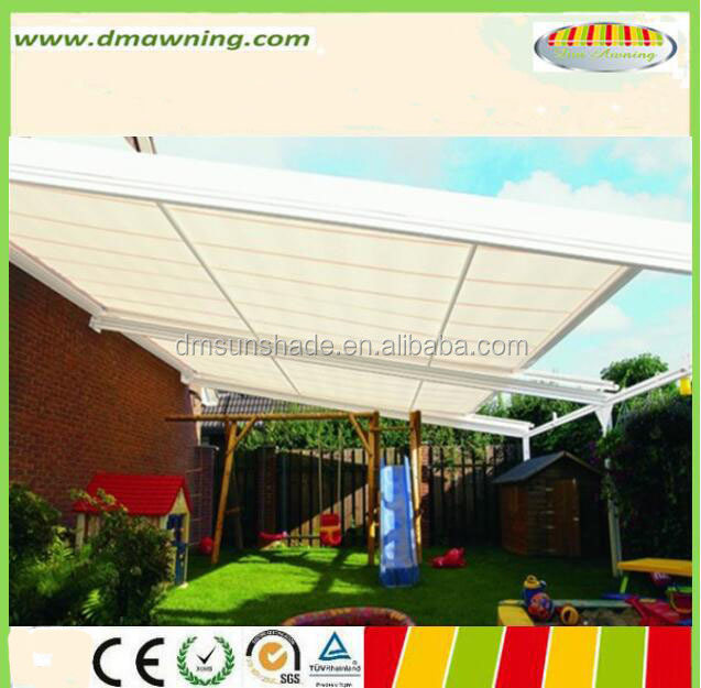 aluminum conservatory retractable motorized awning