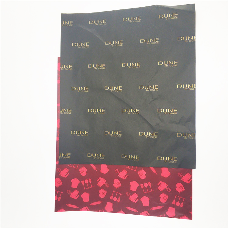2019 new design gravure printed tissue paper with your own logo for wrapping