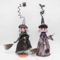 Halloween Garden Decoration,Spooky witch Rustic Metal Yard Stake