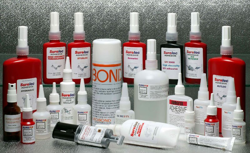 Cyanoacrylate / Anaerobic Adhesive, pipe sealants, threadlockers, UV adhesive