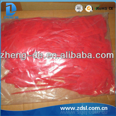 Rubber Cable Tie Red Color Pvc Cable Tie