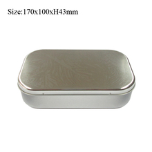 Metal type rectangular gift tin box for wallet & watch