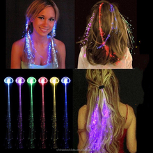 Light Up Hair Extension Flash glowing LED Braid,Novelty Decoration for Party Holiday,Hair Extension flashing