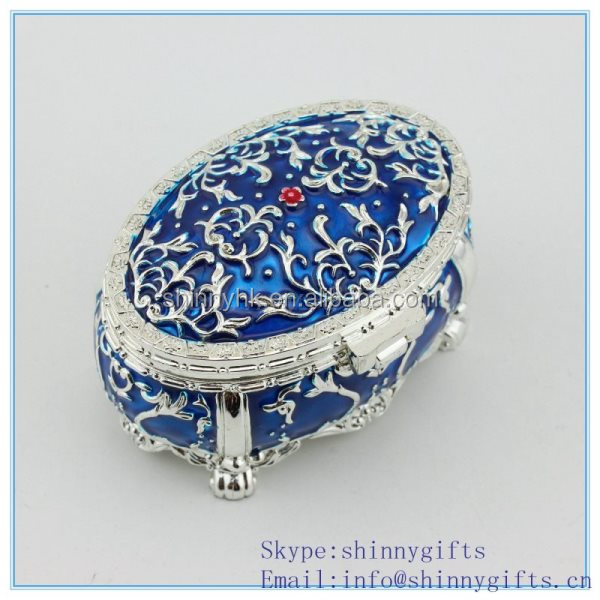 Zinc alloy materials oval shape jewelry packaging box-wedding gift box
