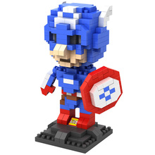 LOZ children diy 2018 super hero heads captain blocks toy brick