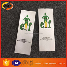 Custom Printing Polyester Satin Fabric Washing Labels Supplier