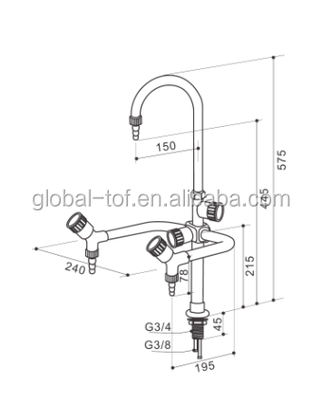Physics Laboratory Equipment of Cold Water and Hot Water faucet