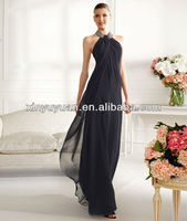 2013 Latest Designs Unique Sexy Halter Sheath Long Women Evening Dress Evening Gown POE-005