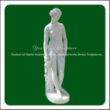 Natural white marble carved naked woman different kinds of sculpture