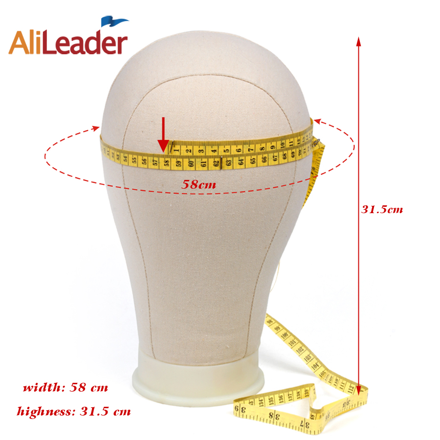Alileader Wholesale Canvas Head Holder Wig Stand Black Color Mannequin Head Tripod For Making Wigs
