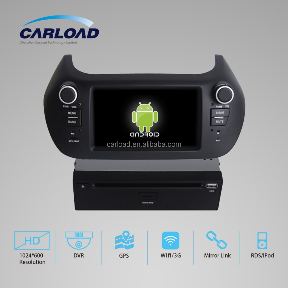 2 din car dvd gps Android 4.4 for Fiat punto linea with Quad core Bluetooth radio OBD mirror link 3G Wifi multimedia audio