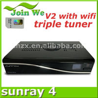 SUNRAY SR4 V2 Rev E D11 version motheboard sunray dm800se hd 400mbps wifi antenna and trip tuner sim 2.20 satellite receiver
