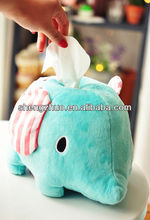 stuffed plush elephant tissue cover,tissue case,tissue holder