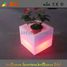 2016 new design LED lighting square flower pot different size, Waterproof LED Battery Lit Ice / Flower pots