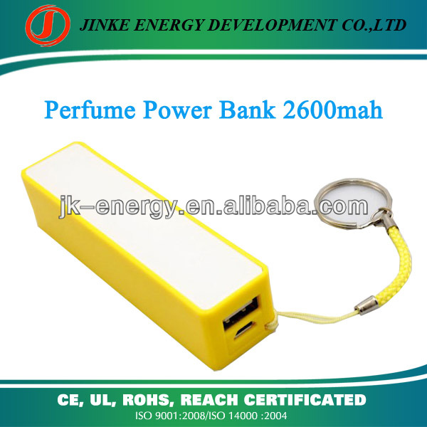 2013 newest fashional perfume 2800mah portable charger rechargeable universal usb portable mobile phone emergency charger