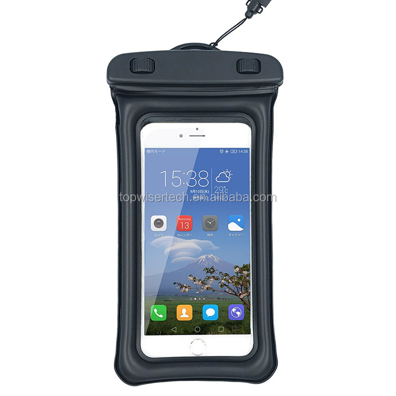 Inflatable Plastic Cell Phone Case for All 5.5 inch Mobile Phone Waterproof Bag