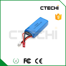 Rechargeable drone battery 7.4v 1200mah 30c li-ion battery pack for RC helicopter