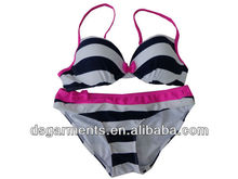 New navy Stripe women Swimwear