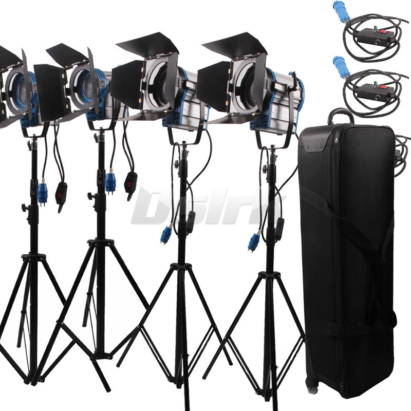 300w*2+650w*2 Continuous Light Camera for photographic arri fresnel 4-light kit