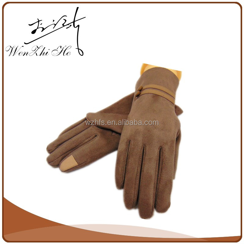 Two Button Coated Ultra Thin Five Finger Light Touchscreen Glove