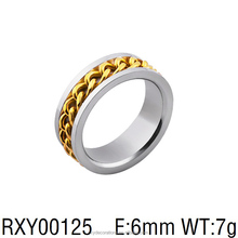 RXY00125 lastest teenage 18k gold ring custom jewelry steel hinged fancy cool ring factory direct