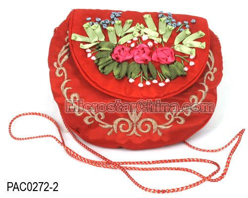 Silk Embroidery bag Chinese jewelry bag