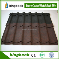 cheap price sand coated roofing tiles stone coated steel roofing sheet metal roof tiles
