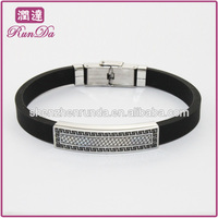 2014 Custom Silicon Bracele Stainless Steel