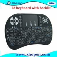 LED Light 2.4G Wireless i8 Keyboard With Mini Backlit Keyboard i8 2.4GHz Wireless keyboard air mouse remote In Stock