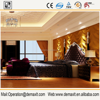 popular styles Glitter Modern Vinyl Wall Paper for decoration room and hotel