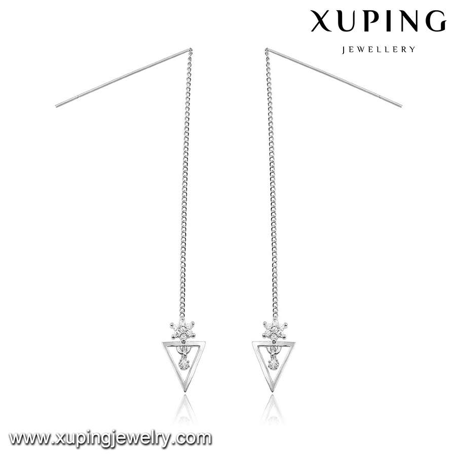 92779 XUPING trilateral small gold earrings,light weight gold earring,high quality earring
