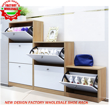 2017 new design factory wholesale for sale wooden mordern furniture shoe cabinet