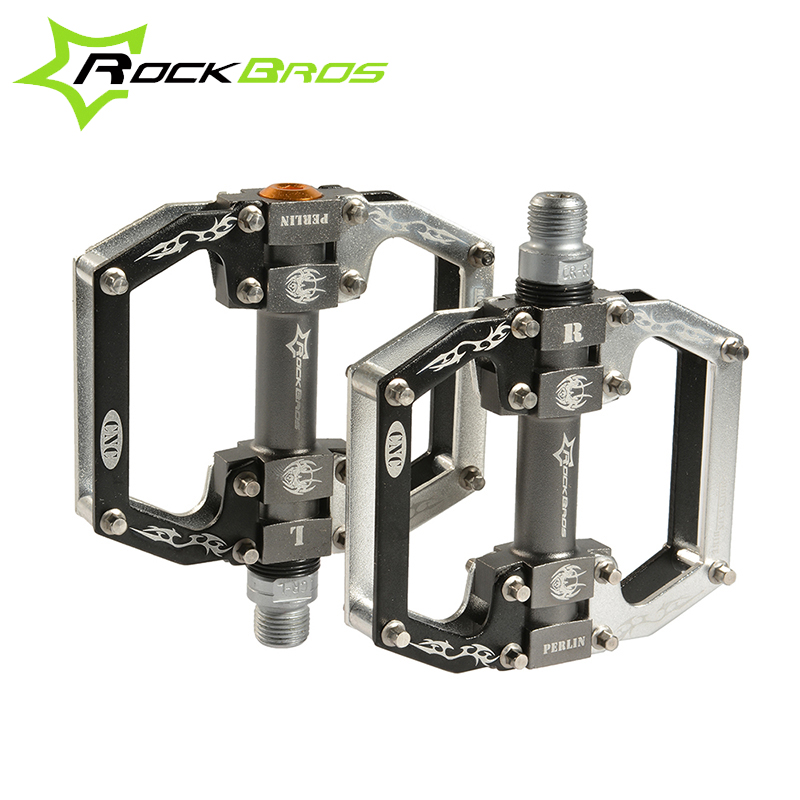 RockBros Road MTB Mountain Bike Pedals Aluminum Alloy Seald Bearing Hollow Design Ultralight Cycling Bicycle Pedals 12Colors,OEM