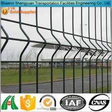 China suppliers metal corrugated black welded wire fence mesh panel