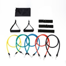 11pcs Resistance Bands With Foam Handles For Yoga Pilates Abs Exercise Tube Workout Fitness Kits