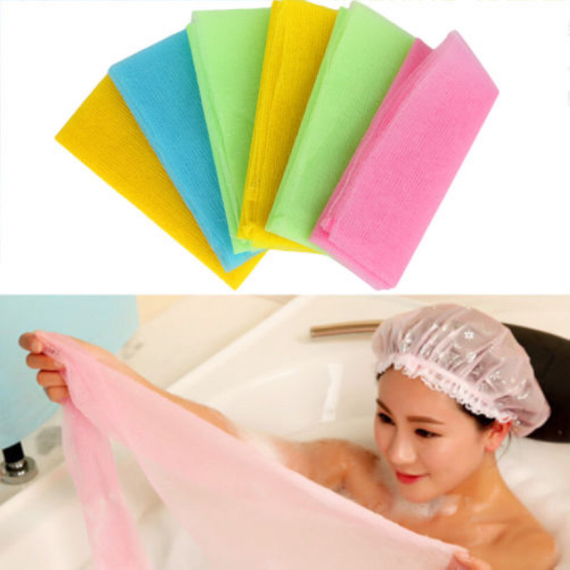 QJ106 Best Exfoliating Nylon Bath Shower Body Cleaning Washing Scrubbing Cloth Towel