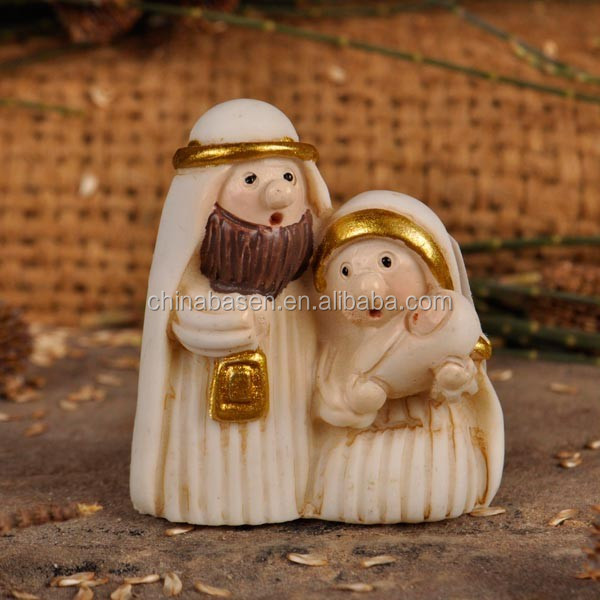 Resin crafts tiny nativity set
