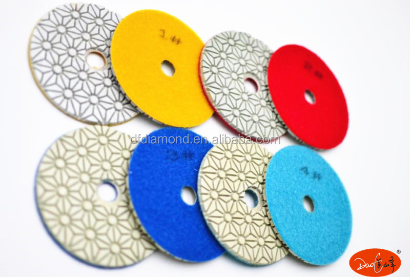 wet and dry working Resin Bond Diamond marble Granite concrete floor polishing pads