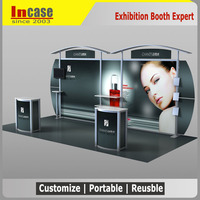 Incase Modular trade show booths design and construction