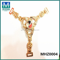 Mexico Cheap gold shoe chain for ladies,sandal ornaments MHZ0004
