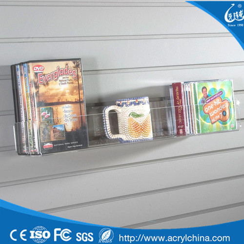 Promotional Customized acrylic shoe Slat Wall Shelves stand display