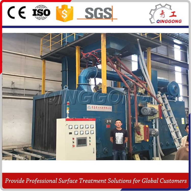 high quality H beam shot blasting machine with siemens PLC