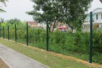 Top selling high quality outdoor wire welded panel fence,fencing with pole