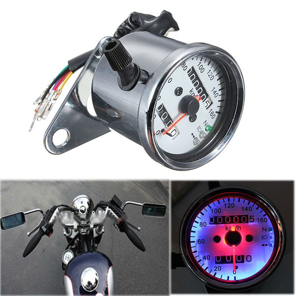Motorcycle instrument 12 v motorcycle two-way odometer meter led backlight lights Motorcycle instrument