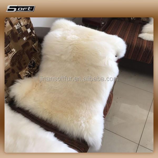 natural merino shepskin fluffy rugs 1 single lamb pelt - Fluffy Rugs
