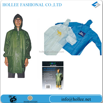 Green pvc raincoats for men