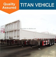 TITAN 3 axles 13m fence rail truck semi trailer